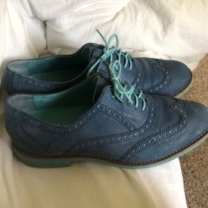 Cole Haan Oxford wingtip shoes blue